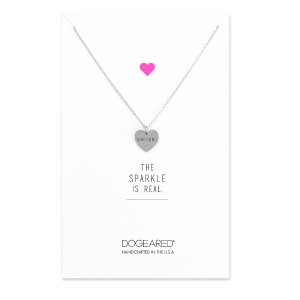 Unicorns Conversation Hearts Necklace, Sterling Silver | Dogeared