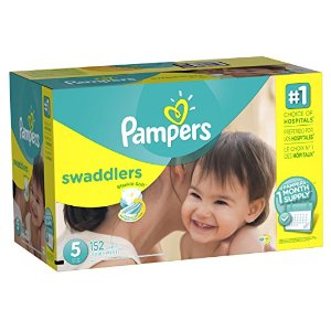 Pampers Swaddlers Diapers, Size 5, One Month Supply, 152 Count (Packaging May Vary)