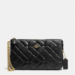 CANYON quilt nolita wristlet 24 in calf leather by Coach | Spring - Free Shipping. On Everything