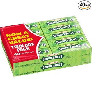 $6.64 + Free ShippingWrigley's Doublemint Chewing Gum, 5-Piece Pack (40 Packs)