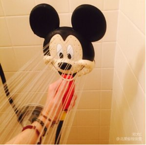 Oxygenics 79148 Mickey Mouse Handheld Shower Head, Red/Black