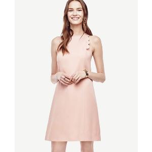 Scalloped Shift Dress | Ann Taylor