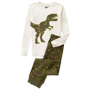Camo Dinosaur 2-Piece Pajama Set at Crazy 8