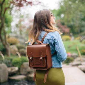 Periwinkle Blue Small Portrait Backpack | The Cambridge Satchel Company
