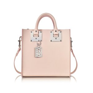 Sophie Hulme Blossom Pink Albion Saddle Leather Square Tote at FORZIERI