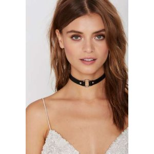 JAKIMAC Alexis O-Ring Leather Choker - Black | Shop Accessories at Nasty Gal!