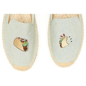 Soludos Jason Polan Taco Embroidered Smoking Slipper in Chambray Taco - Soludos Espadrilles
