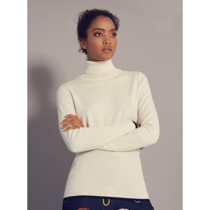 Ribbed roll neck sweater - Ivory | Sweaters | Ted Baker