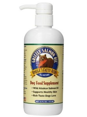 $12.99 Grizzly Salmon Oil All-Natural Dog Food Supplement in Pump-Bottle Dispenser