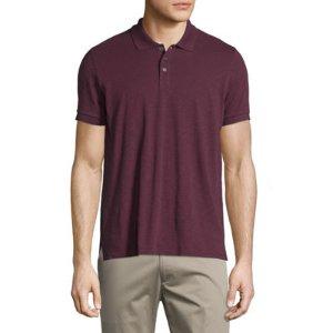 Vince Short-Sleeve Slub Polo Shirt
