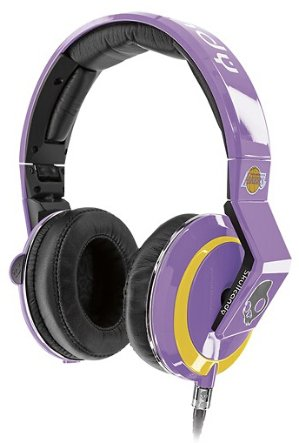 Skullcandy - Mix Master Los Angeles Lakers Over-the-Ear Headphones - Purple/Yellow