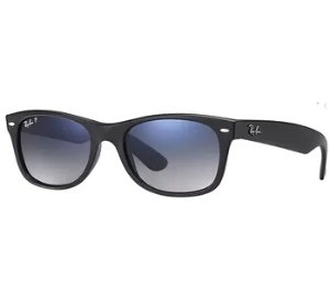 Ray-Ban Wayfarer Classic Polarized Blue Grey Black Nylon Sunglasses