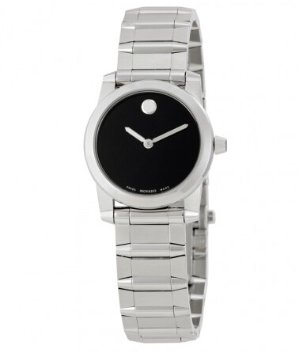 MOVADO Vizio Black Dial Stainless Steel Ladies Watch 0606681