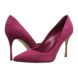 Sergio Rossi Godiva 樱桃红麂皮高跟鞋