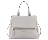 Givenchy Pandora Pure Medium Calf Leather Satchel Bag, Gray