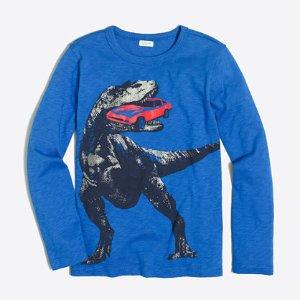 男孩恐龙长袖T恤