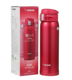 $25.47(reg.$38.95) Zojirushi SM-SA60-RW Stainless Steel Mug, 16-Ounce, Clear Red