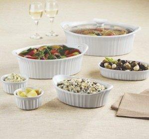 Macy's Only! Corningware French White 10-Pc. Bakeware Set