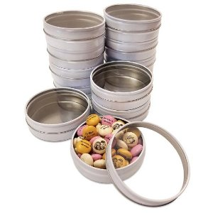 DIY White Candy Tin Kit (24)-Bulk Bags