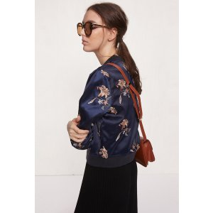 Floral Embroidery Jacket OU0670