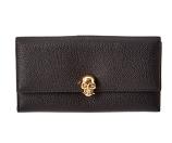 Alexander McQueen Leather Continental Skull Wallet