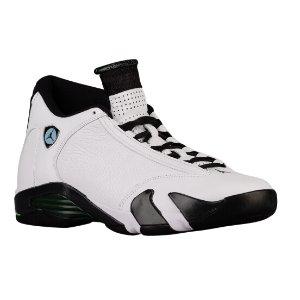 Jordan Retro 14 - Men's - Basketball - Shoes - White/Black/Oxidized Green/Legend Blue