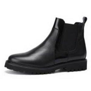[SUECOMMA BONNIE] Point line chelsea ankle boots(black)