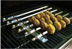 """$19.74 Best of Barbecue Stainless Steel Kabob Rack Set with Six 17"""" Skewers - SR8816"""