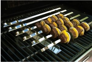 Best of Barbecue Stainless Steel Kabob Rack Set with Six 17