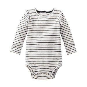 Baby Girl Sparkle Stripe Bodysuit   OshKosh.com