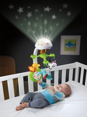 Fisher-Price Deluxe Projection Mobile, Rainforest Friends 3-in-1 @ Amazon