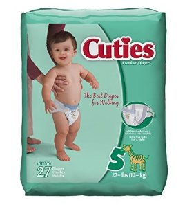 Cuties Baby Diapers (Size 5, 27-Count), Pack of 4
