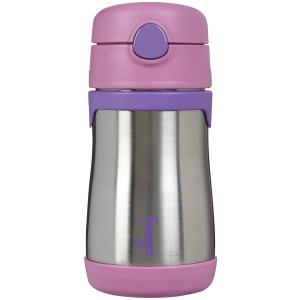 Foogo by Thermos Vacuum Insulated Stainless Steel Straw Bottle - Pink - 10 oz