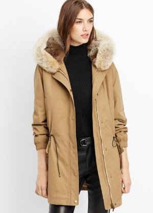 Vince Rabbit Fur-Lined Parka