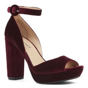 Mary Jane Peep Toe Pumps