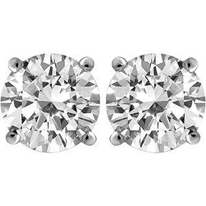 Carina 1 Carat T.W. Round Diamond 14kt Gold Stud Earrings