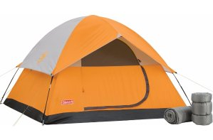 Coleman 4-man tent + 2 Sleeping bags Camp Package