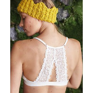 Aerie Lace Keyhole Triangle Bralette, Soft Muslin | Aerie for American Eagle