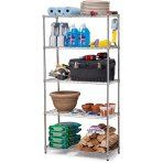 $39 Work Choice 5-Tier Commercial Wire Shelving Rack, Zinc