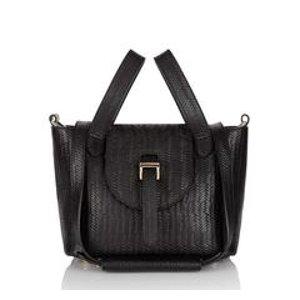 Luxury thela mini handbag in woven leather