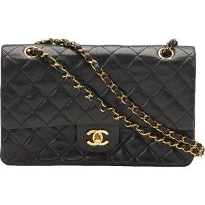 black Plain Leather CHANEL Handbag - Vestiaire Collective