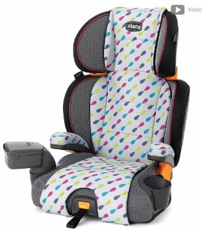 Chicco Kidfit Zip 2-in-1 Belt Positioning Booster Car Seat - Gem