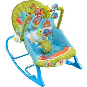 Fisher-Price Infant-to-Toddler Rocker, Elephant Friends, Prime Member Only