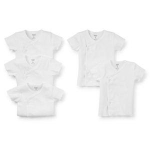 Baby Girl 5-Pack Short-Sleeve Side-Snap Tees | Carters.com