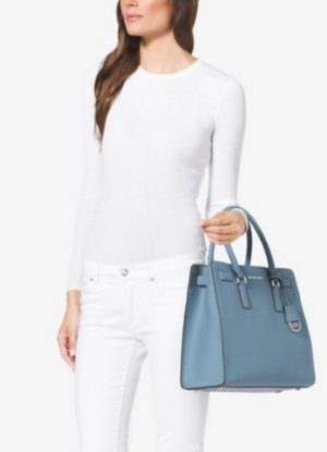 MICHAEL Michael Kors Dillon Large Saffiano Leather Satchel