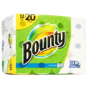 Bounty Paper Towels 12 Mega Rolls