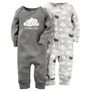 Baby Neutral 2-Pack Babysoft Coveralls | Carters.com