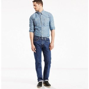 Dark Blue Stone Washed 505™ Jeans for Men   Levi's®
