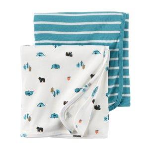 Baby Boy 2-Pack Babysoft Swaddle Blankets | Carters.com