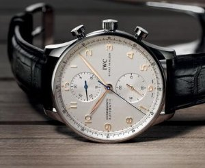 IWC Portuguese Chronograph Silver Dial Men's Watch 3714-45